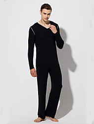 cheap -Men's Suits Nightwear - Lace up, Solid Colored