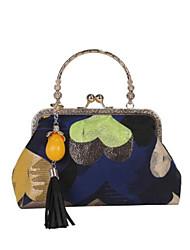 cheap -Women's Bags PU Tote Zipper Red / Dark Blue / Yellow
