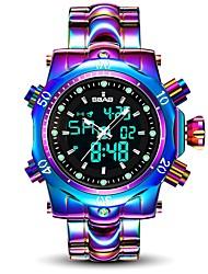 Недорогие -Муж. Спортивные часы Календарь / Защита от влаги сплав Группа Роскошь / Мода Белый / Фиолетовый