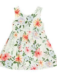 cheap -Baby Girls' Floral Sleeveless Dress