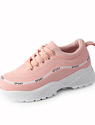 Недорогие -Жен. Обувь Ткань Весна лето Удобная обувь Кеды Для прогулок Платформа Круглый носок Белый / Черный / Розовый