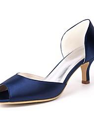 economico -Per donna Scarpe Raso Primavera estate Decolleté scarpe da sposa A stiletto Punta aperta Rosso / Champagne / Avorio