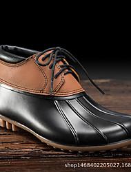 Недорогие -Жен. Обувь КожаПВХ Весна лето Резиновые сапоги Ботинки На низком каблуке Коричневый