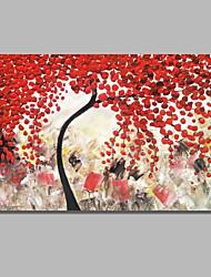 Недорогие -Hang-роспись маслом Ручная роспись - Абстракция / Цветочные мотивы / ботанический Современный / Modern холст