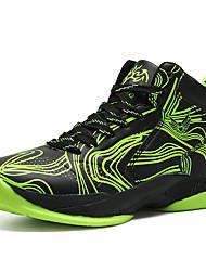 abordables -Garçon Chaussures Cuir Printemps été Confort Chaussures d'Athlétisme Course à Pied / Basketball Lacet pour Rouge / Vert / Bleu
