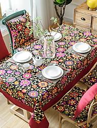cheap -Contemporary PVC(PolyVinyl Chloride) / Cotton Square Table Cloth Floral Table Decorations 1 pcs