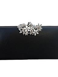 preiswerte -Damen Taschen PU-Leder Abendtasche Knöpfe / Kristall Verzierung Gold / Schwarz / Silber