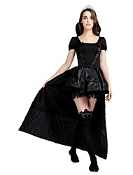 cheap -Witch Outfits Unisex Halloween Carnival Day of the Dead Masquerade Birthday New Year Festival / Holiday Halloween Costumes Black Solid