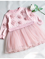 cheap -Baby Girls' Solid Colored Long Sleeve Dress / Cute / Toddler