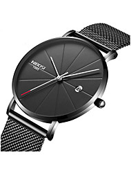 cheap -Men's Wrist Watch Japanese Calendar / date / day / Chronograph / Water Resistant / Water Proof Stainless Steel Band Minimalist Black / Silver / Grey / Large Dial / Sony SR626SW