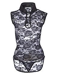 cheap -Women's Babydoll & Slips Nightwear - Lace, Solid Colored
