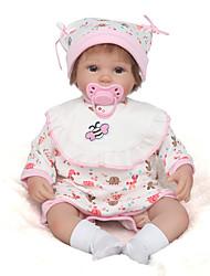 Недорогие -NPK DOLL Куклы реборн Девочки 16 дюймовый Силикон / Винил - как живой, Ручные прикладные ресницы, Гофрированные и запечатанные ногти Детские Универсальные Подарок / CE / Естественный тон кожи