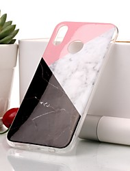 billiga -fodral Till Huawei P20 lite / P20 IMD / Mönster Skal Marmor Mjukt TPU för Huawei P20 lite / Huawei P20 / P10 Lite