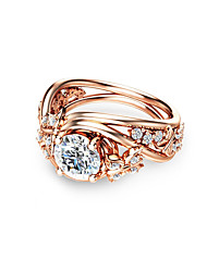 cheap -Synthetic Diamond Engagement Ring - Copper Ball Holiday, Fashion 6 / 7 / 8 Champagne For Party / Date