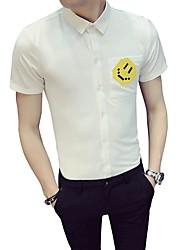 baratos -Homens Camisa Social Negócio Básico Retrato