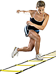 cheap -Speed Agility Ladder With 1 pcs Plastics 12 Rung Training Aids For Basketball / Football / Soccer / Running
