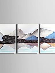 preiswerte -Druck Aufgespannte Leinwandrucke - Abstrakt Landschaft Modern