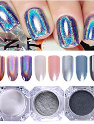 cheap -3 pcs Glitter Powder Mirror Effect / Nail Glitter Nail Art Design Glossy Wedding / Event / Party