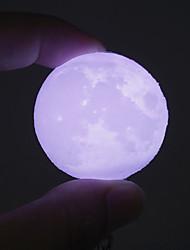Недорогие -HKV 1шт 3D ночной свет Холодный белый Батарея с батарейкой Украшение Безопасность