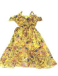 Недорогие -Дети Девочки С принтом С короткими рукавами Платье