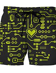Недорогие -Муж. Трусики, шорты и т.д. Плавки-боксеры Контрастных цветов