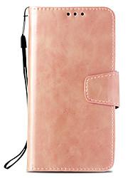 economico -Custodia Per Apple iPhone X / iPhone 8 Plus A portafoglio / Porta-carte di credito / Con supporto Integrale Tinta unita Resistente pelle