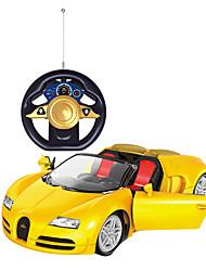 Недорогие -Машинка на радиоуправлении 2-Kанальн. 2.4G Автомобиль 1:24 Бесколлекторный электромотор 8-10 km/h КМ / Ч