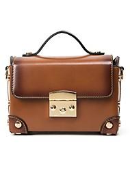 お買い得  -女性用 バッグ PU トート ボタン のために オフィス&キャリア ブラック / ルビーレッド / Brown