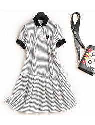 cheap -Miss French Women's Simple / Cute A Line Dress - Striped