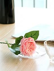 baratos -Flores artificiais 1 Ramo Casamento / buquês de Noiva Rosas / Flores eternas Flor de Mesa