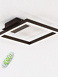 cheap -Linear Flush Mount Ambient Light - Bulb Included, 110-120V / 220-240V, Warm White / White / Dimmable With Remote Control, LED Light