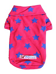 cheap -Dogs / Cats / Pets T-shirts Dog Clothes Stars / Quotes & Sayings Yellow / Red / Blue Cotton Costume For Pets Female Stylish / Casual /