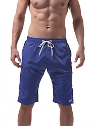 cheap -Men's Sporty Bottoms - Solid Colored Lace up Board Shorts