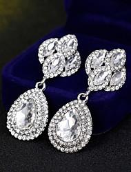 preiswerte -Damen Tropfen-Ohrringe - Blume Einfach, Europäisch, Modisch Silber Für Hochzeit / Alltag