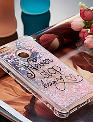 cheap -Case For Huawei P10 Lite / Huawei P smart Shockproof / Flowing Liquid / Pattern Back Cover Word / Phrase Soft TPU for P10 Lite / P8 Lite
