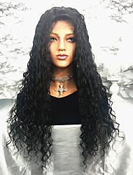 cheap -Remy Human Hair Lace Front Wig Brazilian Hair Curly Wig 150% 100% Virgin Women's Long Human Hair Lace Wig