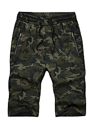 cheap -Men's Basic Loose Shorts Pants - Camouflage / Please choose one size larger according to your normal size. / Weekend