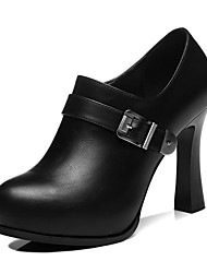 cheap -Women's Shoes Synthetic Fall & Winter Basic Pump / Gladiator Heels Chunky Heel for Party & Evening Black / Red
