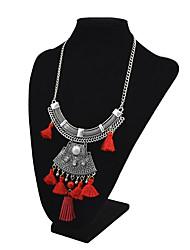 baratos -Mulheres Tanzanite sintética / Gema Colares com Pendentes  -  Vintage / Fashion / Importante Preto / Vermelho / Azul 46+6cm Colar Para
