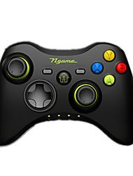 baratos -Ngame Sem Fio Controladores de jogos Para Android / PC / iOS Portátil / Vibração Controladores de jogos ABS 1pcs unidade