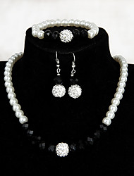 cheap -Women's Jewelry Set - Imitation Pearl Fashion Include Drop Earrings / Pendant Necklace White For Wedding / Party / Birthday
