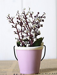 baratos -Flores artificiais 1 Ramo Rústico Plantas Flor de Mesa