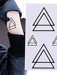 billiga -10 pcs Tatueringsklistermärken tillfälliga tatueringar Tecknad serie Body art arm