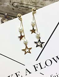 cheap -Women's Drop Earrings / Hoop Earrings - Gold Plated, S925 Sterling Silver, Freshwater Pearl Vintage, Basic, Fashion Gold For Gift / Festival