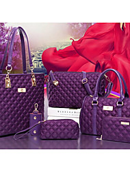 baratos -Mulheres Bolsas Náilon Conjuntos de saco 6 Pcs Purse Set Ziper Vermelho / Roxo / Fúcsia