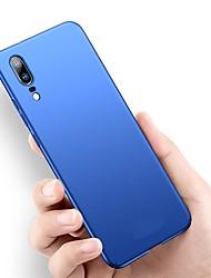 Недорогие -Кейс для Назначение Huawei P20 Pro / P20 lite Ультратонкий / Матовое Кейс на заднюю панель Однотонный Твердый ПК для Huawei P20 / Huawei P20 Pro / Huawei P20 lite / P10 Plus / P10 Lite / P10