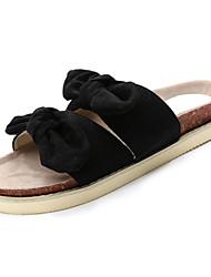 cheap -Women's Shoes Rubber Summer Comfort Slippers & Flip-Flops Flat Heel Bowknot for Outdoor Black / Yellow / Pink