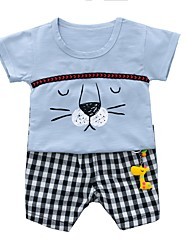 cheap -Toddler Boys' Active School Print Print Short Sleeve Cotton Clothing Set / Cute