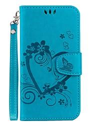 Недорогие -Кейс для Назначение Huawei P20 lite / P20 Бумажник для карт / со стендом / Флип Чехол С сердцем Твердый Кожа PU для Huawei P20 lite /