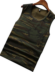 cheap -Men's Basic Tank Top - Camouflage Racerback Round Neck / Sleeveless